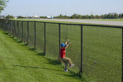 Airport Insecurity. Some smaller airports have such lax security even a child could get in, simply by climbing a fence Stock Photography