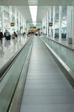 Airport interior. With moving stairway (Picture taken at Toronto's airport Stock Image