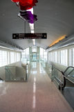 Airport interior. Interior of transfer station at Houston International Airport Royalty Free Stock Images