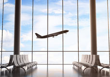 Airport interior Stock Images