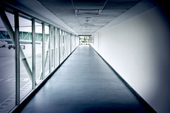 Airport interior hallway Stock Photo