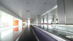 Airport interior stock video footage