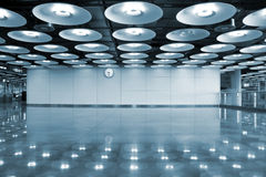 Airport interior and lights Royalty Free Stock Images