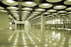 Airport interior and lights Stock Image