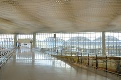 Airport interior structure Royalty Free Stock Image