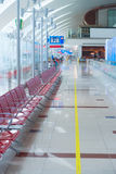 Airport interior in waiting area near gate Stock Image