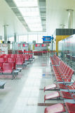 Airport interior in waiting area near gate Stock Photo