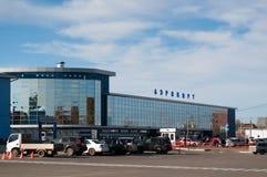 Airport in Irkutsk stock images