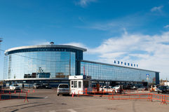 Airport in Irkutsk Stock Photos