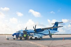 Airport on the island of Cayo Largo, Cuba Stock Photography