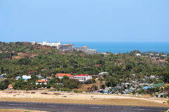 Airport on the island Stock Photography