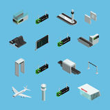 Airport Isometric Icons Set Royalty Free Stock Image