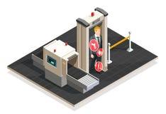 Airport Isometric Illustration Stock Image