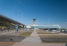 Airport Kazan. Station Square of the new terminal 1a stock images