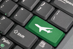 Airport on keyboard Stock Photos