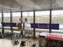Airport at Krasnoyarsk in Siberia, Russia. stock photos