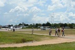The airport in La Macarena Stock Photo