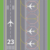Airport landing airstrips vector Royalty Free Stock Photography