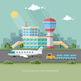 Airport landscape. Travel Lifestyle Concept of Planning a Summer Stock Photo