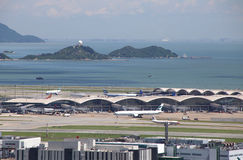 Airport on Lantau, Hong Kong Royalty Free Stock Image