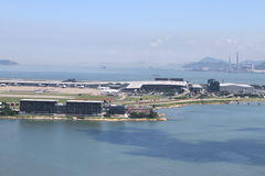 Airport on Lantau island Royalty Free Stock Images
