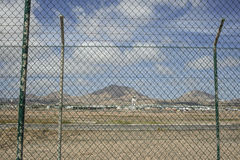 Airport of Lanzaroe Stock Photo
