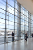 At the airport - lens and motion blurred Royalty Free Stock Photography