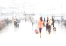 At the airport - lens and motion blurred Stock Photography