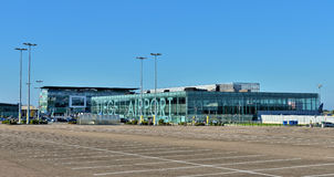Airport of Liege or Liege-Bierset. Royalty Free Stock Photo