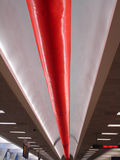 Airport Line. Airport ceiling with red tubing Royalty Free Stock Image