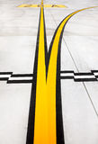 Airport lines Royalty Free Stock Photo
