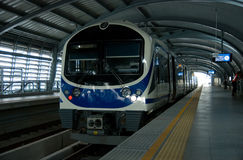 Airport Link Train At A Station In Bangkok Royalty Free Stock Photos