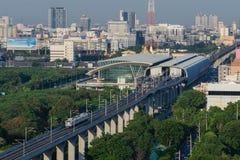 Airport Link train in Bangkok. Thailand top view Royalty Free Stock Photos