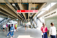 Bangkok, Thailand:Airport Link train at Payathai s Royalty Free Stock Images