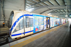 Bangkok, Thailand: Airport Link train at a station Stock Image