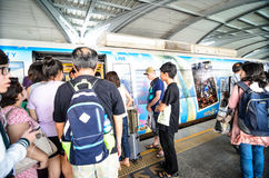 Bangkok,Thailand:Airport Link train at a station. Stock Image