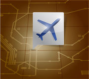 Airport locator illustration design Royalty Free Stock Photo