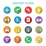 Airport long shadow icons Stock Image