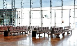 Airport lounge. Empty airport lounge, travel concept picture Royalty Free Stock Photos