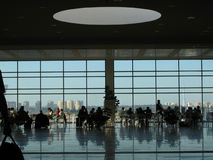 Airport Lounge. Crowd of people dining at the airport lounge Royalty Free Stock Images