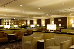 Airport lounge. Picture of modern interior airport lounge Stock Photo