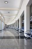 Airport lounge. Waiting hall of a modern airport with column and seats - Congonhas - Sao Paulo - Brazil Stock Images