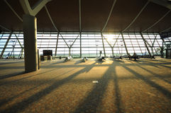 Airport Lounge in early sunlight Royalty Free Stock Image