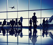 Airport Lounge. People in an airport lounge royalty free stock image
