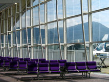 Airport Lounge - Row of Chairs Stock Photos