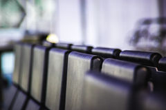 Airport lounge seats. Royalty Free Stock Images
