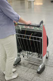 Airport luggage cart Royalty Free Stock Photography