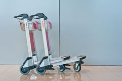 Airport Luggage Cart Stock Image