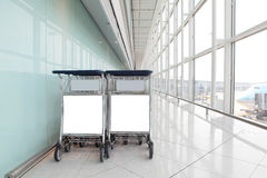 Airport Luggage Cart Stock Photography