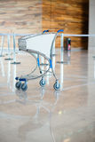 Airport luggage cart Stock Photo